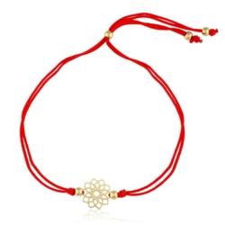 Bransoletka na nitce - flower - Lisha - BP4007