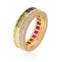 Pierścionek z kolorowymi kryształami Xuping PP1907