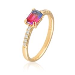 Pierścionek z kolorowym kryształem - Xuping PP1908