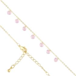 Bransoletka z kryształkami - pink - BP4050