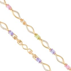 Bransoletka - kolorowe kryształki - Xuping BP4078