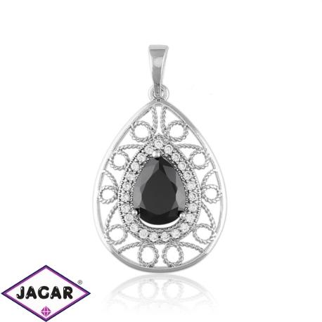Przywieszka z czarnym kryształem - Xuping PRZ1955