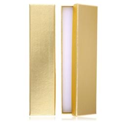 Pudełka prezentowe złote 4,5x20,5cm - 12szt OPA322