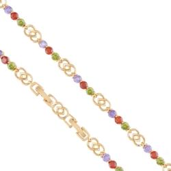 Bransoletka - kolorowe kryształki - Xuping BP4110