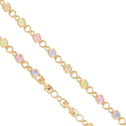 Bransoletka - kolorowe kryształki - Xuping BP4112