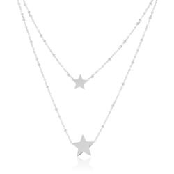 Celebrytka podwójna - gwiazdki - CP1915