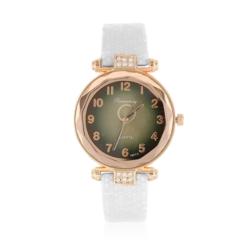 Zegarek damski na białym pasku - Z781