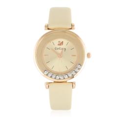 Zegarek damski na beżowym pasku - Z782
