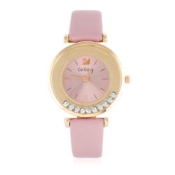 Zegarek damski na różowym pasku - Z783