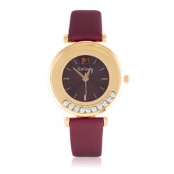 Zegarek damski na bordowym pasku - Z785