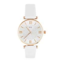 Zegarek damski na białym pasku - Z790