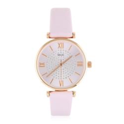 Zegarek damski na różowym pasku - Z791