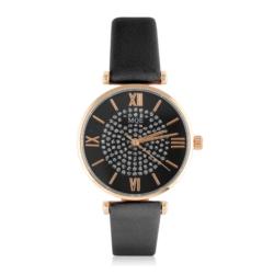 Zegarek damski na czarnym pasku - Z792