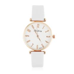 Zegarek damski na białym pasku - Z793