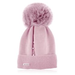 Czapka zimowa damska - różowa - CDW220