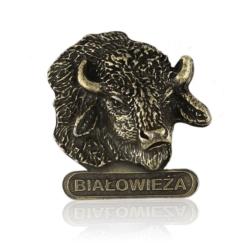 Figurka metalowa żubr - Białowieża - FR271