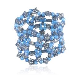 Bransoletka niebieska na gumce - BRA1155