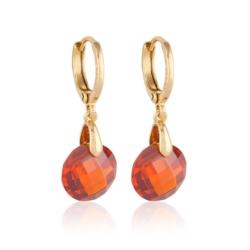 Kolczyki - czerwony kryształ - Xuping EAP9793