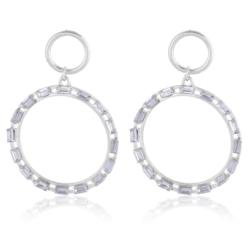 Kolczyk z kryształkami - koła - EA2180