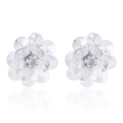 Kolczyki - kwiatki z kryształków - EA2196