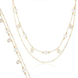 Komplet z perełkami - Xuping - PK442