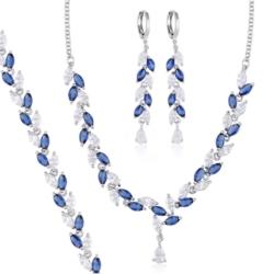 Komplet z niebieskimi kryształkami - Xuping PK443