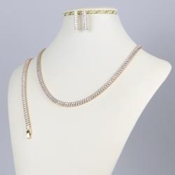 Komplet biżuterii z kryształkami - Xuping - SKO67