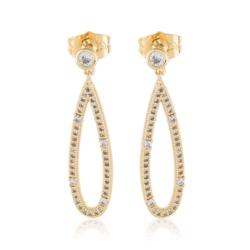 Kolczyki wiszące z kryształkami - Xuping EAP9864