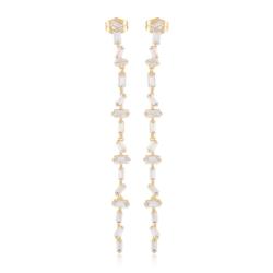 Kolczyki wiszące z kryształkami - Xuping EAP9865
