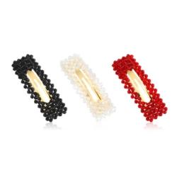 Spinki do włosów z kryształkami- 7cm - 6szt OS364