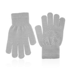Rękawiczki dziecięce - śnieżynka grey - RK437