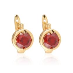 Kolczyki z czerwonym kryształem - Xuping  EAP9922