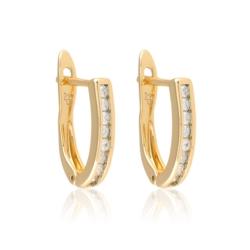 Kolczyki z kryształkami - Xuping - EAP9928