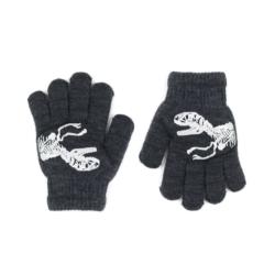 Rękawiczki chłopięce grafit R-012DB - 15cm - RK518