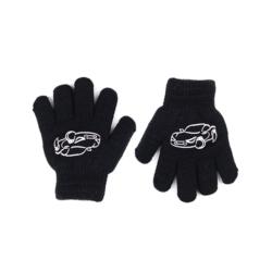 Rękawiczki chłopięce czarne R-012DB - 13cm - RK523