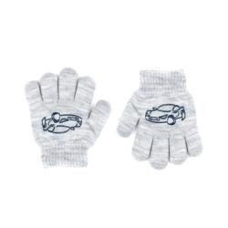 Rękawiczki chłopięce szare R-012DB - 13cm - RK526