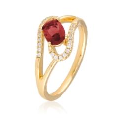 Pierścionek z czerwonym kryształem - Xuping PP1990