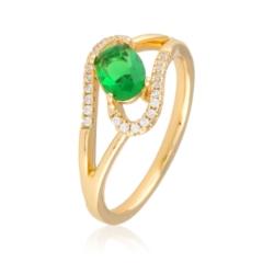 Pierścionek z zielonym kryształem - Xuping PP1994
