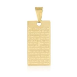 Przywieszka - medalik z modlitwą - Xuping PRZ1991