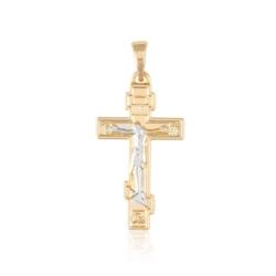Przywieszka - krzyż prawosławny - Xuping - PRZ1994
