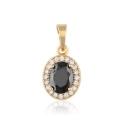 Przywieszka z czarnym kryształem - Xuping PRZ2000