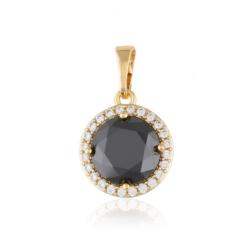Przywieszka z czarnym kryształem - Xuping PRZ2001
