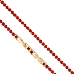Bransoletka - czerwone kryształki - Xuping BP4281