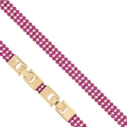 Bransoletka - różowe kryształki - Xuping - BP4282