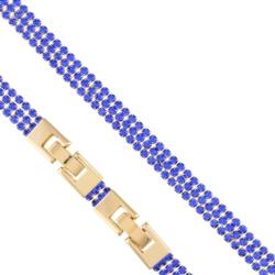 Bransoletka - niebieskie kryształki- Xuping BP4285