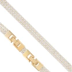 Bransoletka - białe kryształki- Xuping BP4286