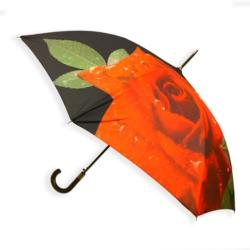 Parasol automatyczny długi - czerwona róża - PAR37