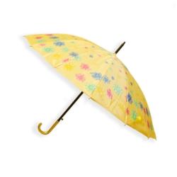 Parasol automatyczny długi żółty w kwiaty - PAR39