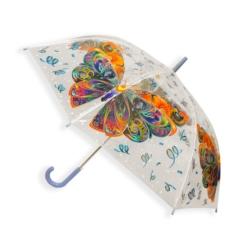 Parasol automatyczny długi foliowy - motyle PAR46