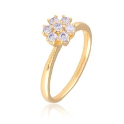 Pierścionek - crystal flower - Xuping - PP2012